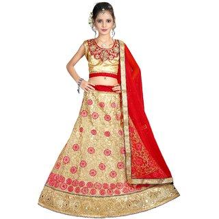 Surupta Beige Color Net Embroidered Designer Lehenga Choli Of Size 38  Devanshi_51673_38