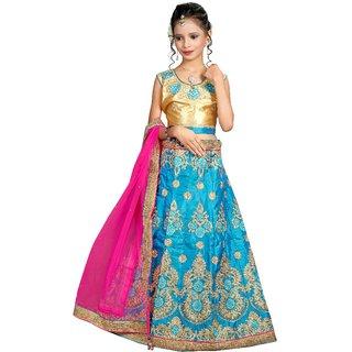 Surupta Blue Color Silk Embroidered Designer Party Wear Circular Lehenga Choli Of Size 38  Sunena_51647_38