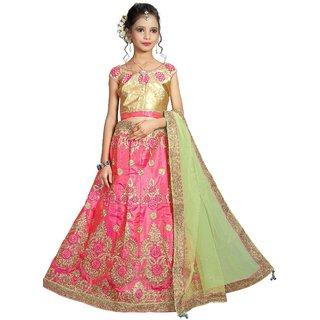 Surupta Gajri Color Silk Embroidered Designer Party Wear Circular Lehenga Choli Of Size 38  Sunena_51650_38