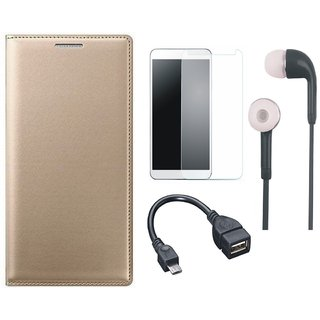 Motorola Moto C Cover with Tempered Glass, Earphones and OTG Cable