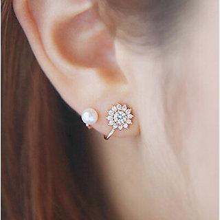 snowflakes sweet pearl earrings