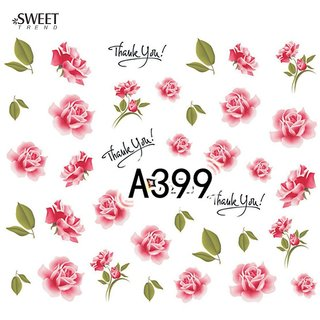 2 Sheet Water colour Flowers 3D Nail Art Manicure Stickers (A399 + A403)