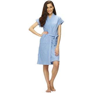 Vixenwrap Sky Blue Solid Bath Robe