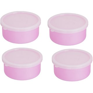 Combo Pack of 2 Pink  Plastic Container