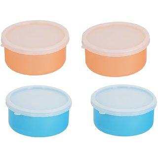 Combo 2 Orange-2 Blue Plastic Container