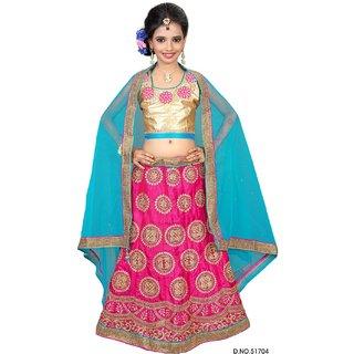 Surupta Blue Pink Color Net Embroidered Designer Party Wear Circular Lehenga Choli of 32 Size  Mohini5170432