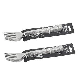 Cielo Smile Flower Desert Fork Cutlery Set of 12 Pcs