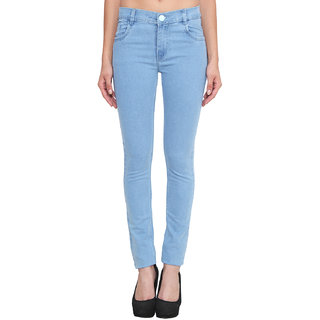 Klick2Style Slim Fit Streachable Women Denim Ice