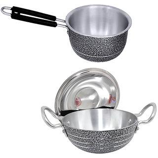 Cookware Set (kadhai 1litter , saucepan 1.5litter)