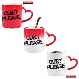 Snoby QUIET PLEASE Ceramic Printed Magic Mug