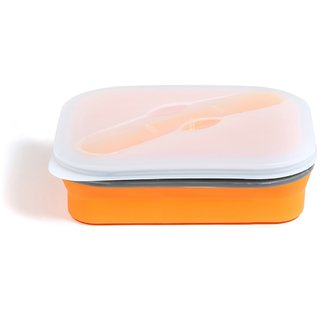 Baby Oodles Orange Single Compartment Expandable Silicon Tiffin Box