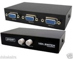 2 Port VGA Switch - (Manual) Connect 2 CPU to 1 Monitor