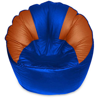 XXXL Size Mudda Sofa Bean Bag Cover Blue & Brown Color (Without Beans)