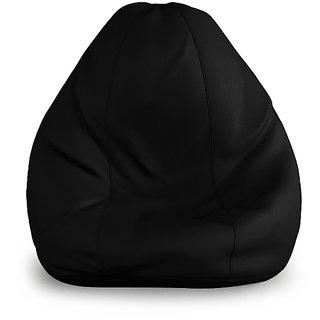 XXXL Size Bean Bag cover- Black Color (Without Beans)