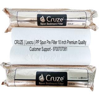 Pokar RO CRUZE Gold (Lexcru ) PP Spun Pre Filter 5 micron 10 x 2.5 inch 4pcs  Premium Quality  Suitable for all RO Wat