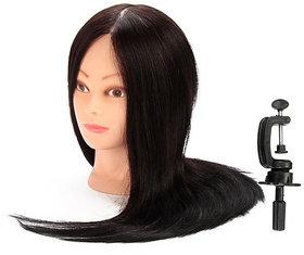 Black Synthetic Long Hair Hairdressers Training Head Dummy, HAIR DUMMY