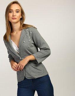 Women's Grey Voris Pearl Blazer