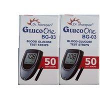 Dr. Morepen BG03 100(50x2) Test Strips (No Glucometer)