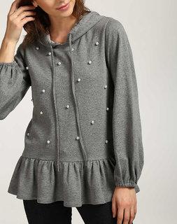 Women's Grey Jennet Pearl Sweatshirt