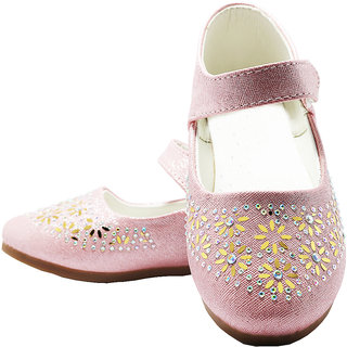 16ac2bab2d0 Buy Girls  Pink glittered ballet Flats Online   ₹599 from ShopClues