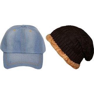 FRIENDSKART Solid Beanie caps Cap