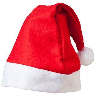 fff937951fca8 Buy Christmas Pack of 1 Red Santa Cap Online - Get 43% Off