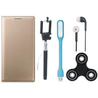 Moto G5 Cover with Spinner, Selfie Stick, Earphones and USB LED Light