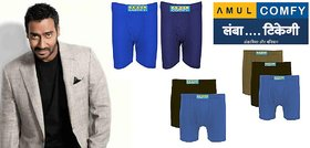 (PACK OF 5) Amul Comfy Men's Cotton Trunk/Underwear EXCLUSIVE BRANDED PRODUCT