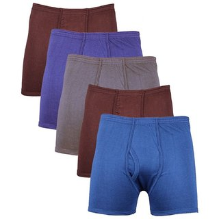 (PACK OF 6) Common Mens Cotton Trunk Underwear - Multi-Color