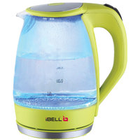 iBELL ELECTRIC GLASS KETTLE WITH LED LIGHTS 1.7LTRS 2000W