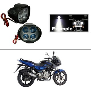 DLT 4 Led Small Circle Motorcycle Light Bike Fog Lamp Light - 2 Pc Bajaj Pulsar 150