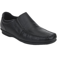 Red Tape Men Black Leather Formal Slip On