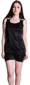 Senslife Soft & Smooth Satin Plain Top & Shorts Nightwear Sets SL017