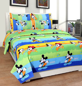 Aashish collection cotton Super Soft Double Bedsheet + 2 Pillow Covers(PC-DBL-3D26)