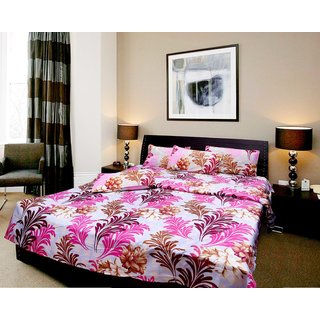 Aashish collection 1 double bed sheet 2 pillow cover (Aop)