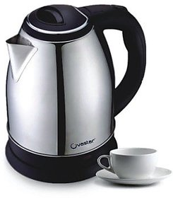 Ovastar Cordless Electric Kettle - Black  Silver