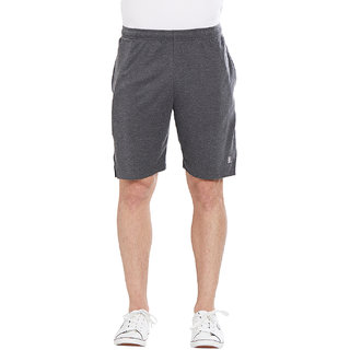 BONATY Grey 100% Polyester Solid  Shorts For Men