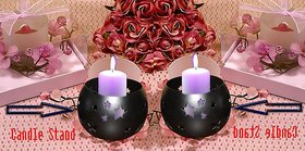 Beautiful Brass Platted Candle Stand - Pack Of 2