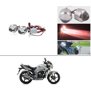DLT Ultra Bright Scooty/Motorcycle/Bike Red Flasher Led Fog Light- Set Of 2 For Hero Hunk