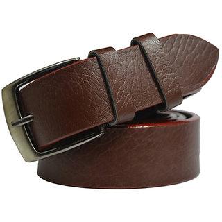 DLT Brown Leatherite Belt For Men (Free Size -28 to 40)