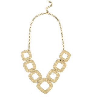 JewelMaze Gold Plated Statement Necklace
