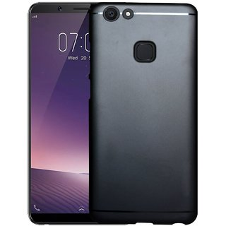 ECS 360 Degree Protection Soft Back Cover For Vivo V7 (5.7 inches) - Black
