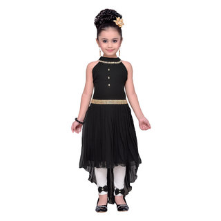 Adiva Girl's Party Wear High Low Dress for Kids