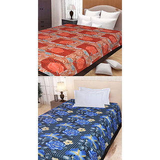 Pack Of 2 Printed Cotton Single Bed Sheet - Assorted Designs