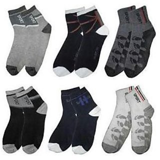 Set of 6 pairs Cotton Ankle Socks Suitable for both Formal  Casual Wear