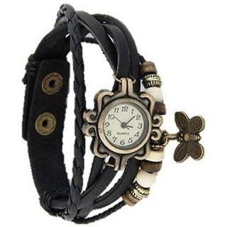 M K Trading Black Dori Analoge Watch For girl
