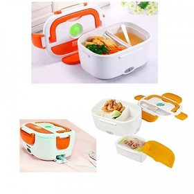 Electric Lunch Tiffin Box Food Warmer  Spoon Home Kitchen Office School Picnic