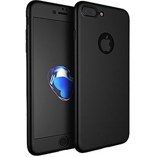 quality design b6a74 0b94a iPhone 7 Plus 360 Degree Full Body Protection Front Back Case Cover (iPaky  Style) with Tempered Glass by BRAND FUSON for I Phone 7 Plus - Black