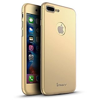 I Phone 7 Plus 360 Degree Full Body Protection Front  Back Case Cover (iPaky Style) with Tempered Glass by BRAND FUSON for I Phone 7 Plus - GOLD