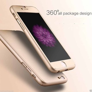 BRAND FUSON IPaky I Phone 7/7G 360 degree- Gold Front Back case cover with Tempered glass ( I PAKY STYLE)